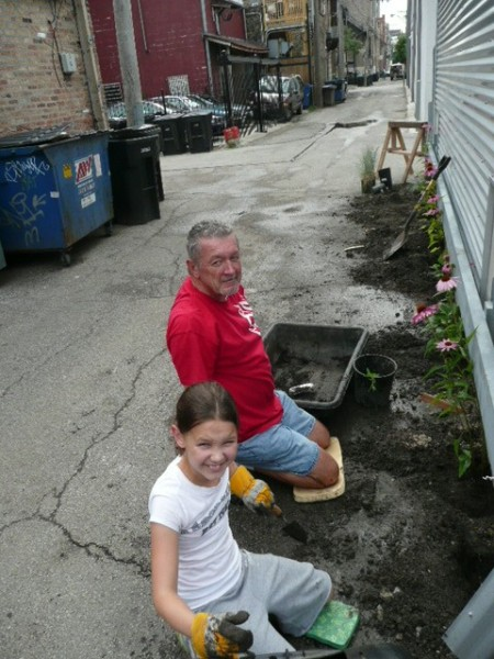 Grandpa and Kate at work